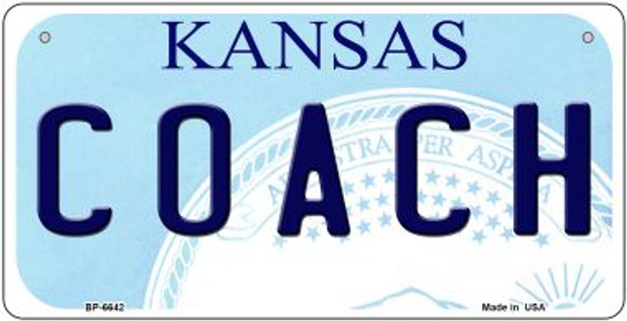 Coach Kansas Novelty Metal Bicycle Plate BP-6642
