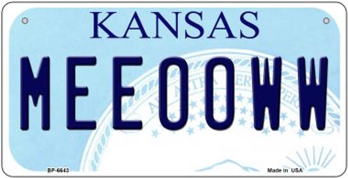 Meeooww Kansas Novelty Metal Bicycle Plate BP-6643