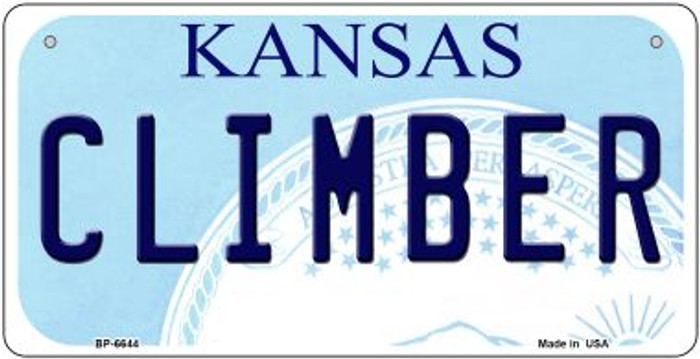 Climber Kansas Novelty Metal Bicycle Plate BP-6644