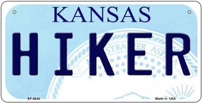 Hiker Kansas Novelty Metal Bicycle Plate BP-6645