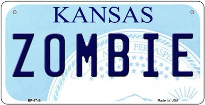 Zombie Kansas Novelty Metal Bicycle Plate BP-6748