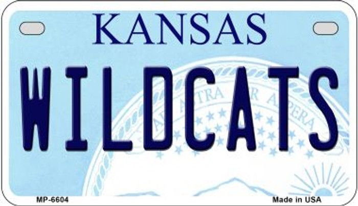 Wildcats Kansas Novelty Metal Motorcycle Plate MP-6604