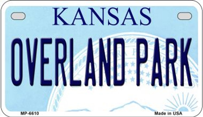 Overland Park Kansas Novelty Metal Motorcycle Plate MP-6610