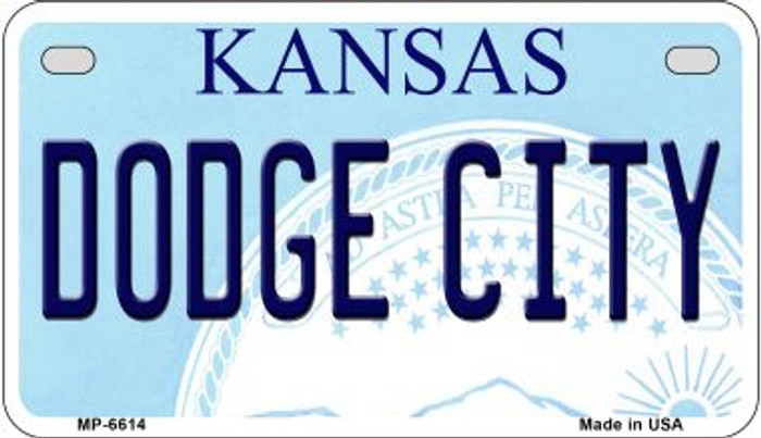 Dodge City Kansas Novelty Metal Motorcycle Plate MP-6614