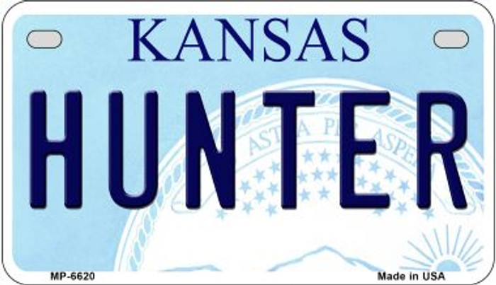 Hunter Kansas Novelty Metal Motorcycle Plate MP-6620