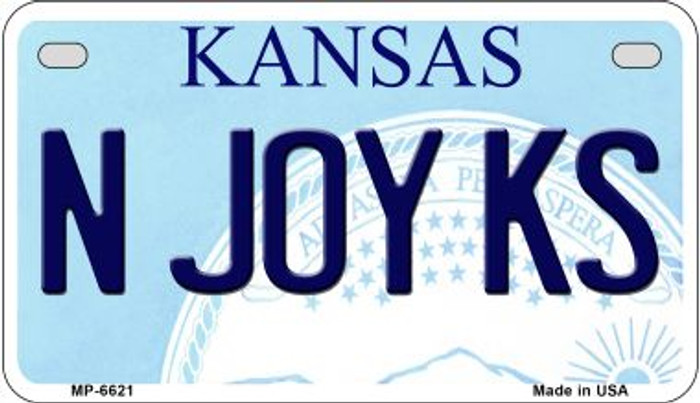 N Joy KS Kansas Novelty Metal Motorcycle Plate MP-6621