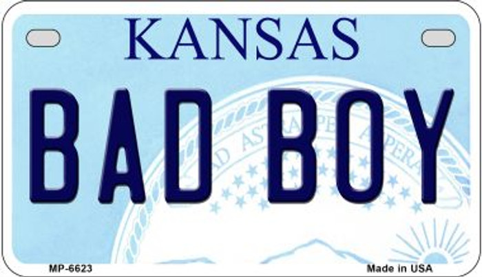 Bad Boy Kansas Novelty Metal Motorcycle Plate MP-6623