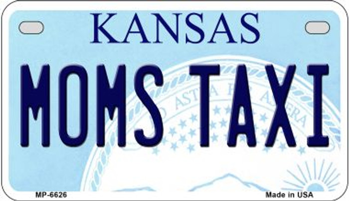 Moms Taxi Kansas Novelty Metal Motorcycle Plate MP-6626