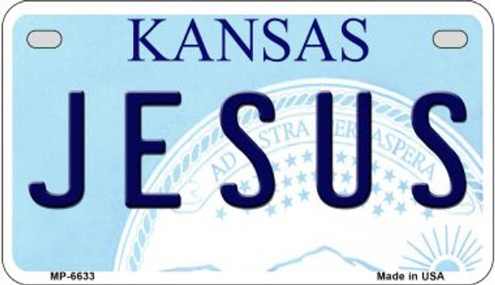 Jesus Kansas Novelty Metal Motorcycle Plate MP-6633