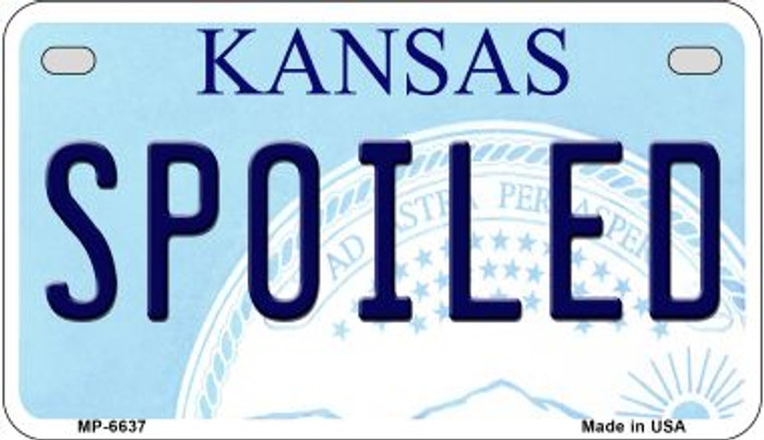 Spoiled Kansas Novelty Metal Motorcycle Plate MP-6637