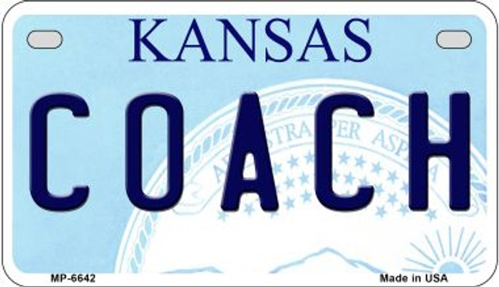 Coach Kansas Novelty Metal Motorcycle Plate MP-6642