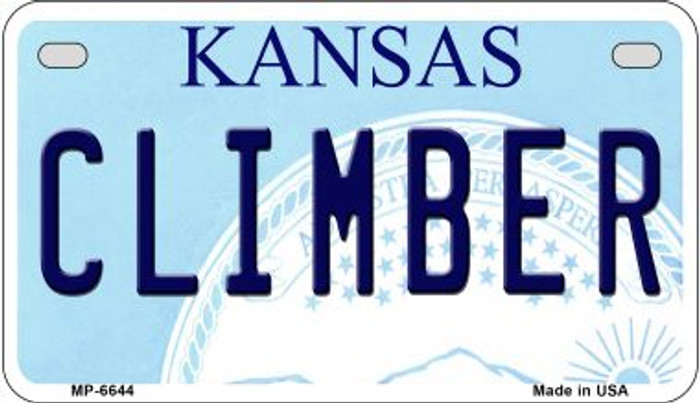 Climber Kansas Novelty Metal Motorcycle Plate MP-6644