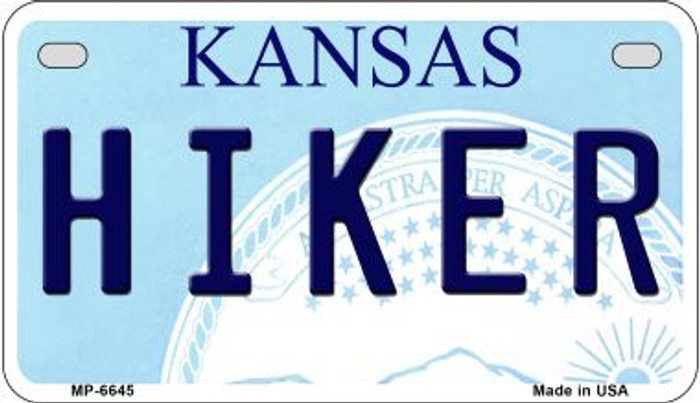 Hiker Kansas Novelty Metal Motorcycle Plate MP-6645