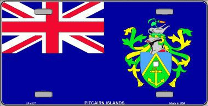 Pitcairn Islands Flag Metal Novelty License Plate LP-4127
