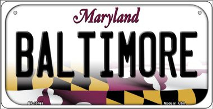 Baltimore Maryland Novelty Metal Bicycle Plate BP-10465