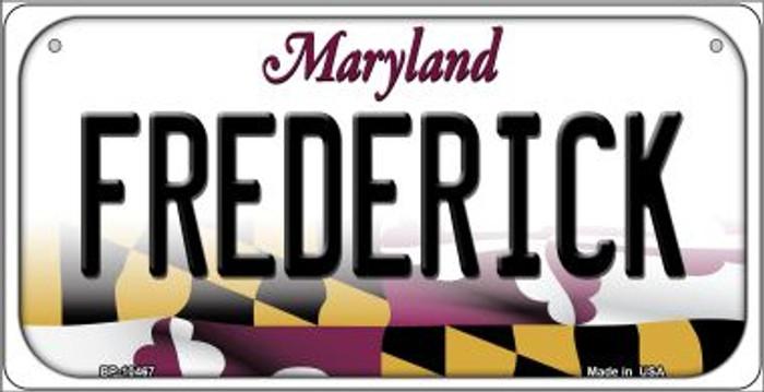 Frederick Maryland Novelty Metal Bicycle Plate BP-10467
