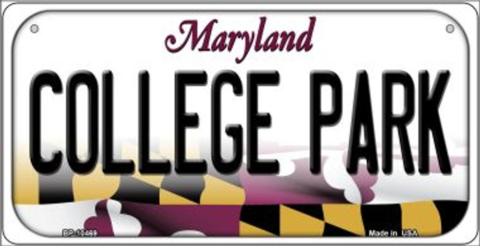 College Park Maryland Novelty Metal Bicycle Plate BP-10469