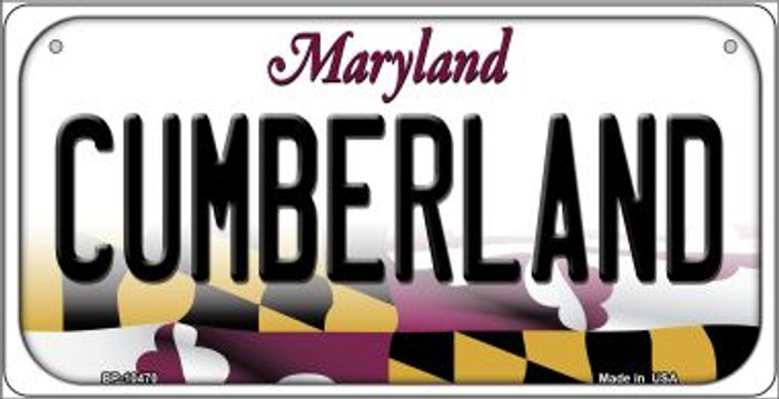 Cumberland Maryland Novelty Metal Bicycle Plate BP-10470