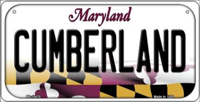 Cumberland Maryland Novelty Metal Bicycle Plate BP-10470