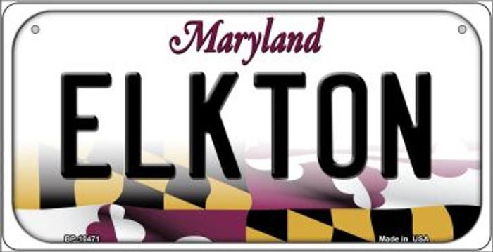 Elkton Maryland Novelty Metal Bicycle Plate BP-10471