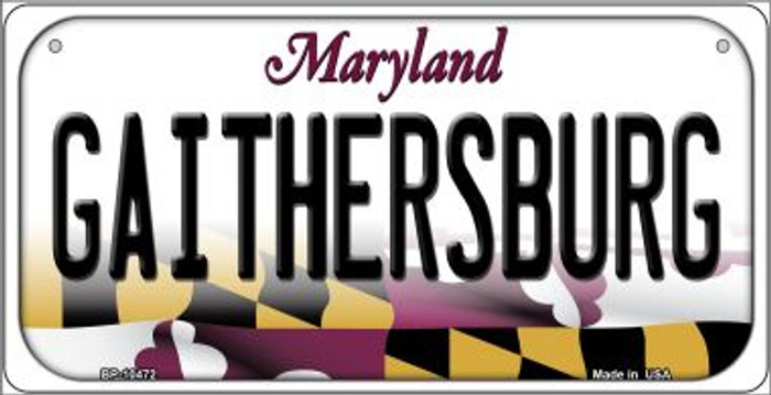 Gaithersbury Maryland Novelty Metal Bicycle Plate BP-10472