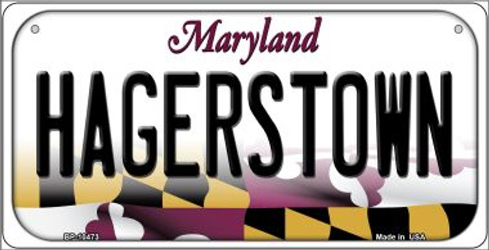 Hagerstown Maryland Novelty Metal Bicycle Plate BP-10473