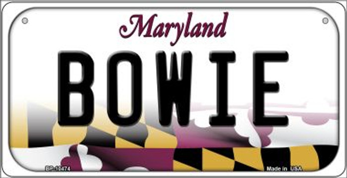 Bowie Maryland Novelty Metal Bicycle Plate BP-10474