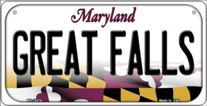 Great Falls Maryland Novelty Metal Bicycle Plate BP-10476