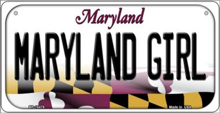 Maryland Girl Maryland Novelty Metal Bicycle Plate BP-10478