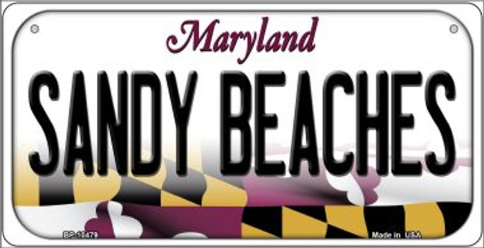 Sandy Beaches Maryland Novelty Metal Bicycle Plate BP-10479