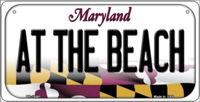 At The Beach Maryland Novelty Metal Bicycle Plate BP-10481