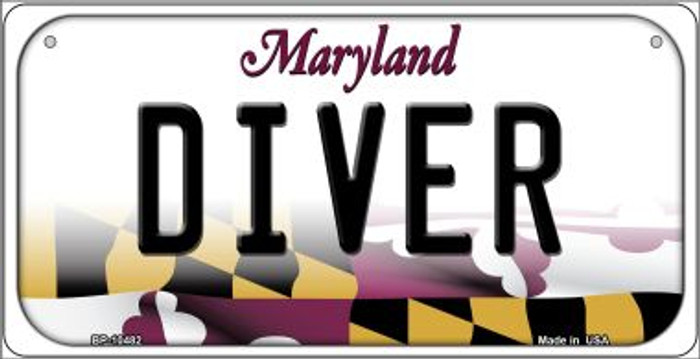 Diver Maryland Novelty Metal Bicycle Plate BP-10482