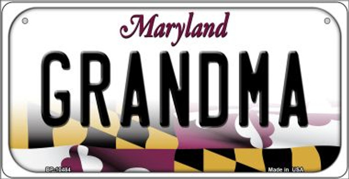 Grandma Maryland Novelty Metal Bicycle Plate BP-10484