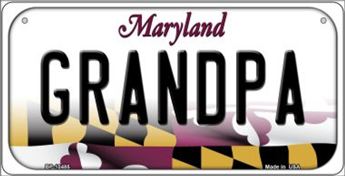Grandpa Maryland Novelty Metal Bicycle Plate BP-10485