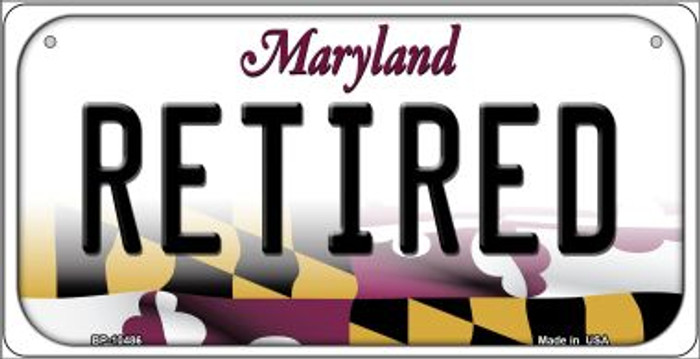 Retired Maryland Novelty Metal Bicycle Plate BP-10486
