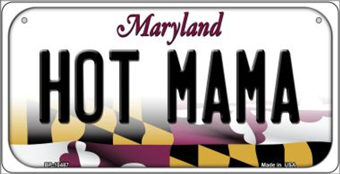 Hot Mama Maryland Novelty Metal Bicycle Plate BP-10487