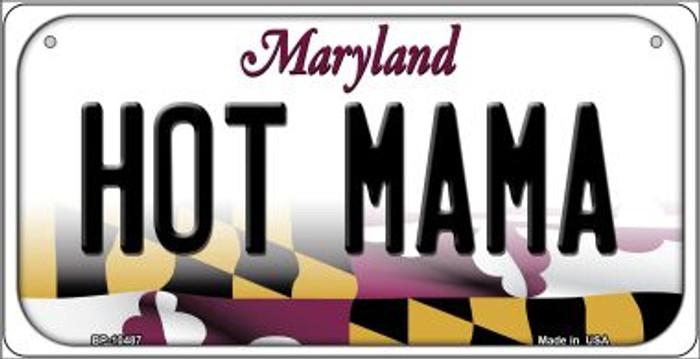 Hot Mama Maryland Novelty Metal Bicycle Plate BP-10487
