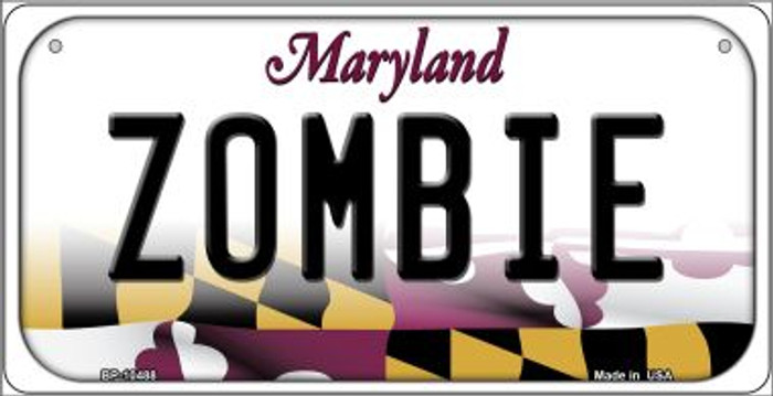 Zombie Maryland Novelty Metal Bicycle Plate BP-10488