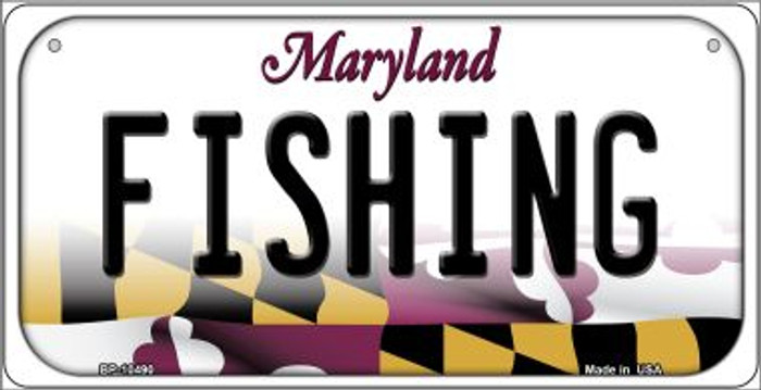 Fishing Maryland Novelty Metal Bicycle Plate BP-10490