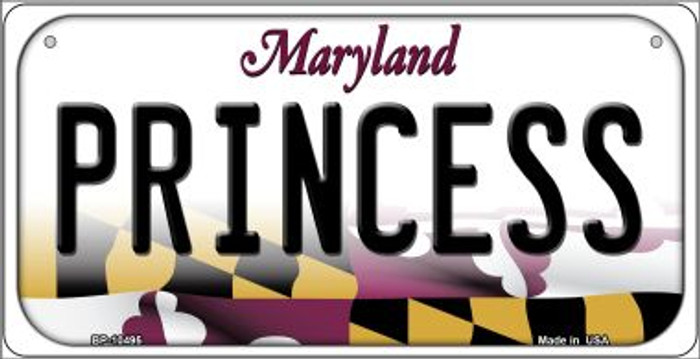 Princess Maryland Novelty Metal Bicycle Plate BP-10495