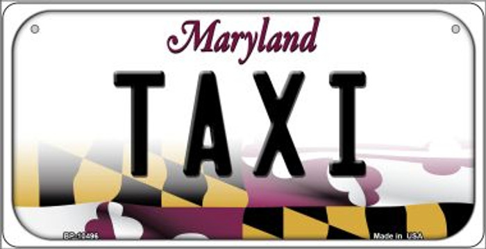 Taxi Maryland Novelty Metal Bicycle Plate BP-10496