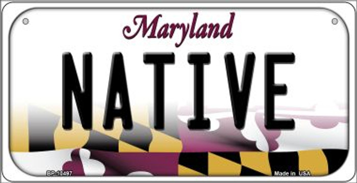 Native Maryland Novelty Metal Bicycle Plate BP-10497