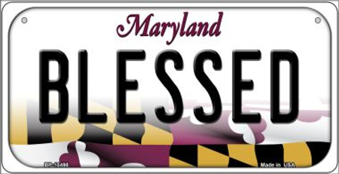 Blessed Maryland Novelty Metal Bicycle Plate BP-10498