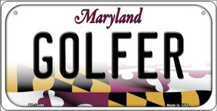 Golfer Maryland Novelty Metal Bicycle Plate BP-10499