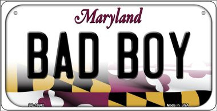 Bad Boy Maryland Novelty Metal Bicycle Plate BP-10502