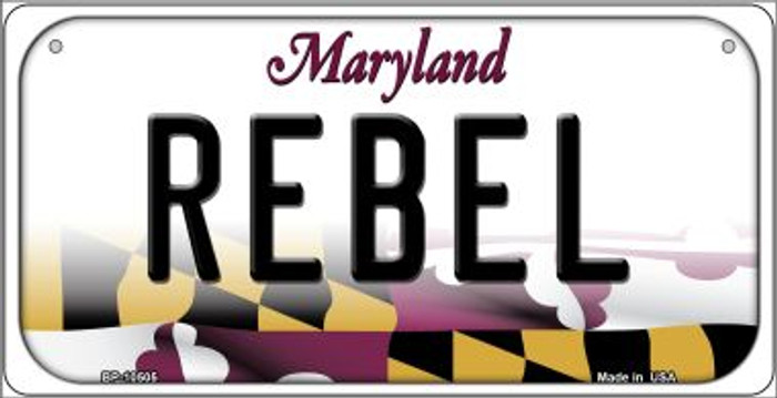 Rebel Maryland Novelty Metal Bicycle Plate BP-10505
