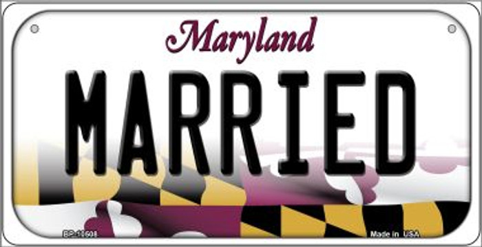 Married Maryland Novelty Metal Bicycle Plate BP-10508