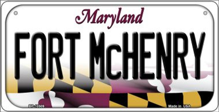 Fort McHenry Maryland Novelty Metal Bicycle Plate BP-10509