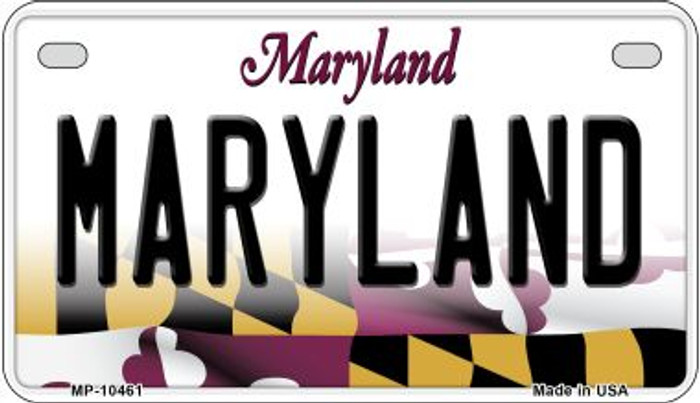 Maryland Novelty Metal Motorcycle Plate MP-10461