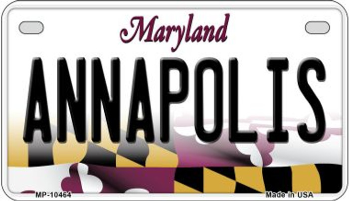 Annapolis Maryland Novelty Metal Motorcycle Plate MP-10464